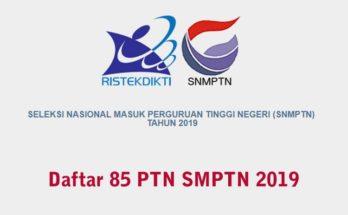 Daftar 85 TN SMPTN 2019