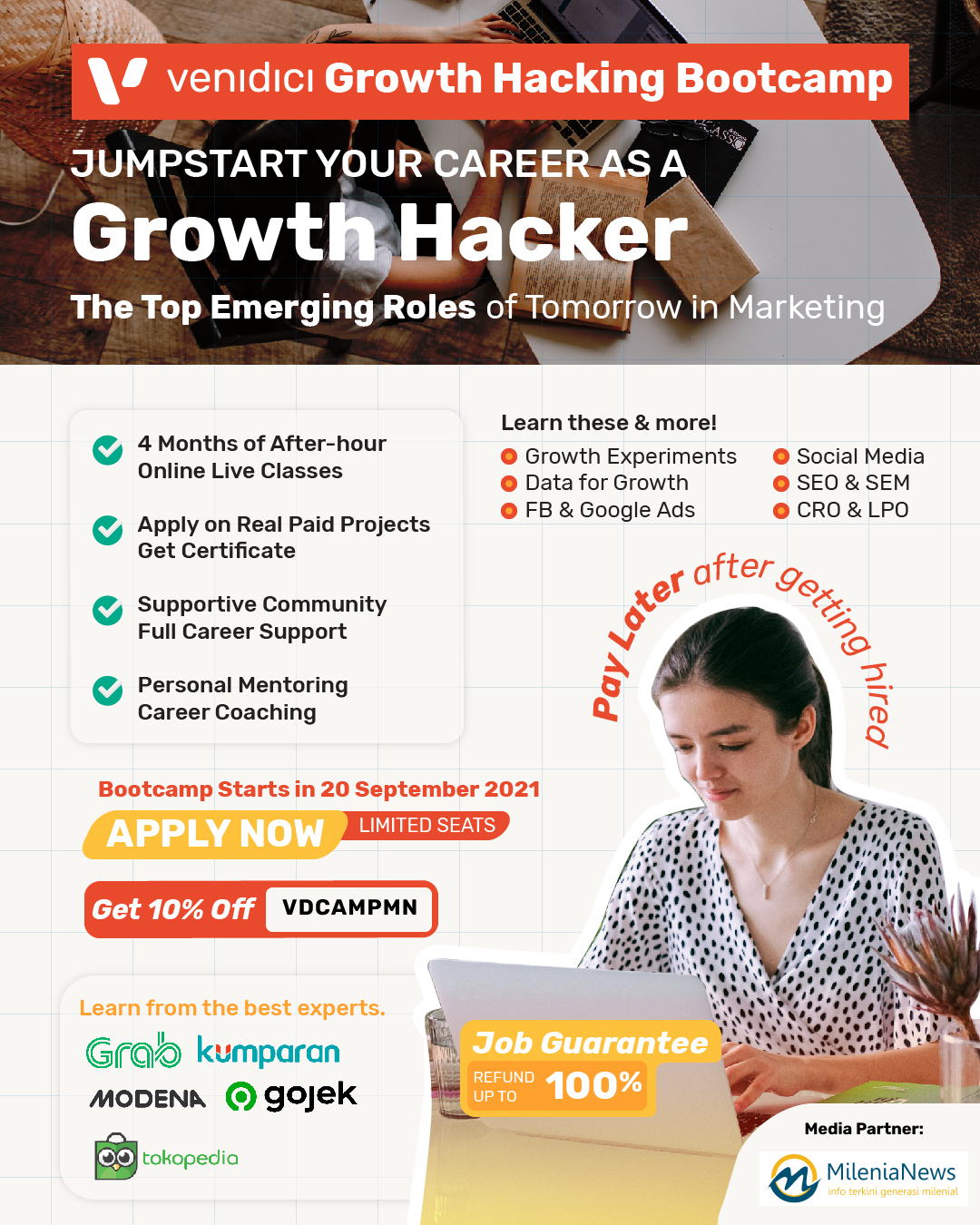Poster Bootcamp Growth Hacking